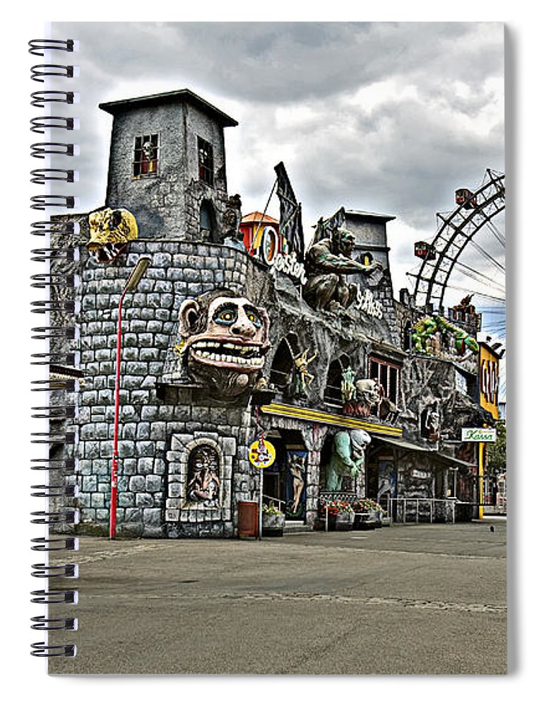 Ferris Wheel Spiral Notebook featuring the photograph The Prater In Vienna by Madeline Ellis