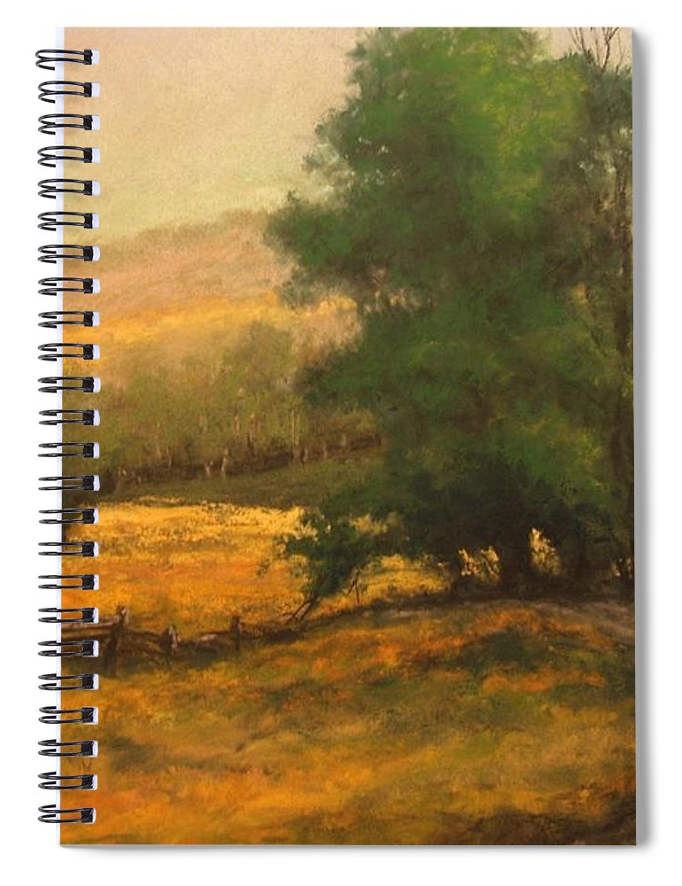 Painting Spiral Notebook featuring the painting The Road Less Traveled by Jim Gola