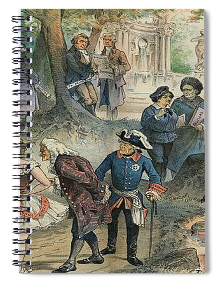 History Spiral Notebook featuring the photograph This Business Is Removed To Sheol by Photo Researchers