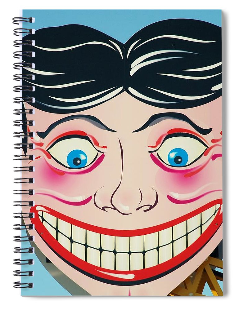 Brooklyn Spiral Notebook featuring the photograph Tillie The Clown Of Coney Island by Rob Hans