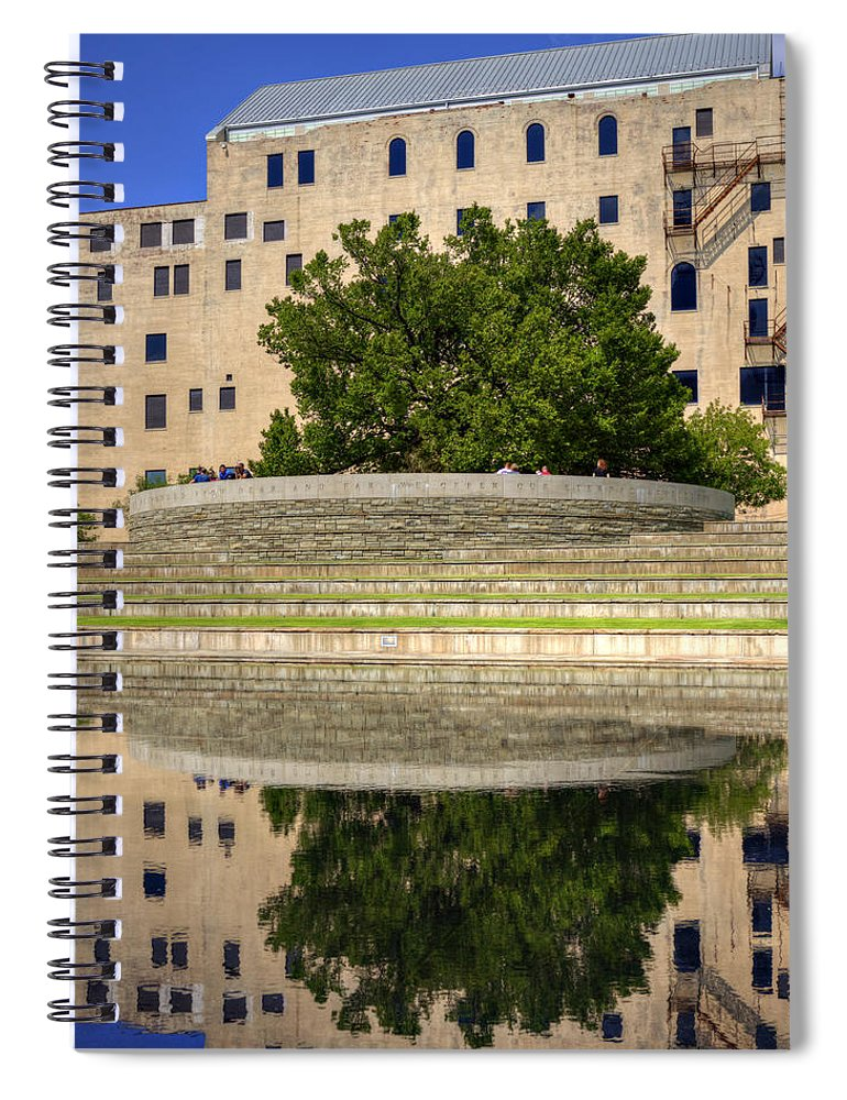 Bombing Spiral Notebook featuring the photograph Time For Reflection by Ricky Barnard