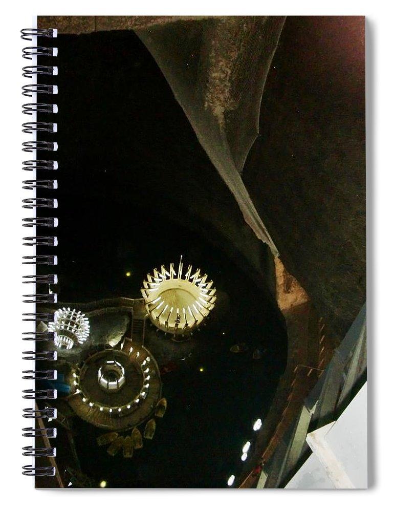Salt Mine Spiral Notebook featuring the photograph Turda Salt Mine by Amalia Suruceanu