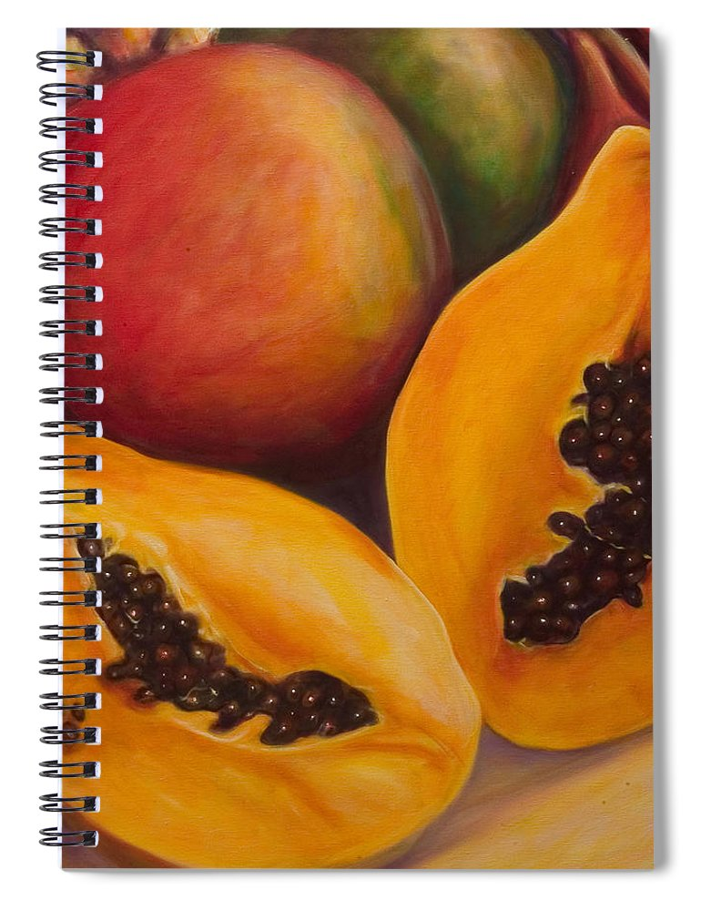 Twins Spiral Notebook featuring the painting Twins Crop by Shannon Grissom