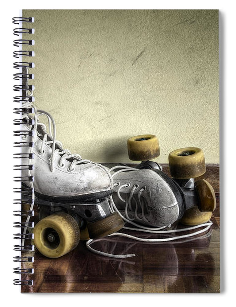 Active Spiral Notebook featuring the photograph Vintage Roller Skates by Carlos Caetano