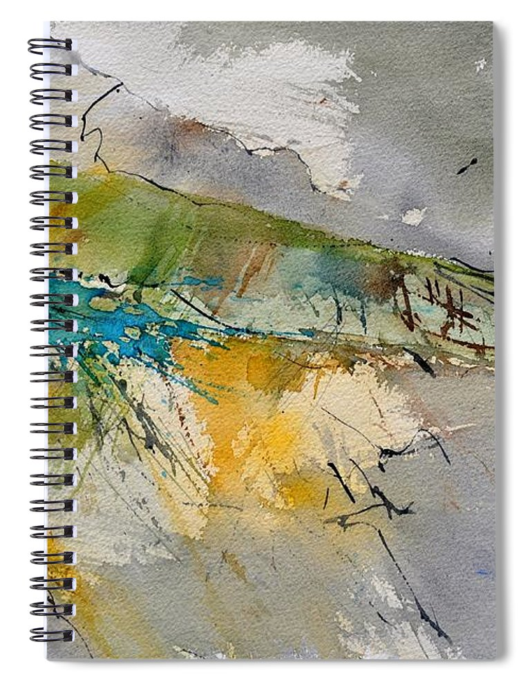 Abstract Spiral Notebook featuring the painting Watercolor 213001 by Pol Ledent