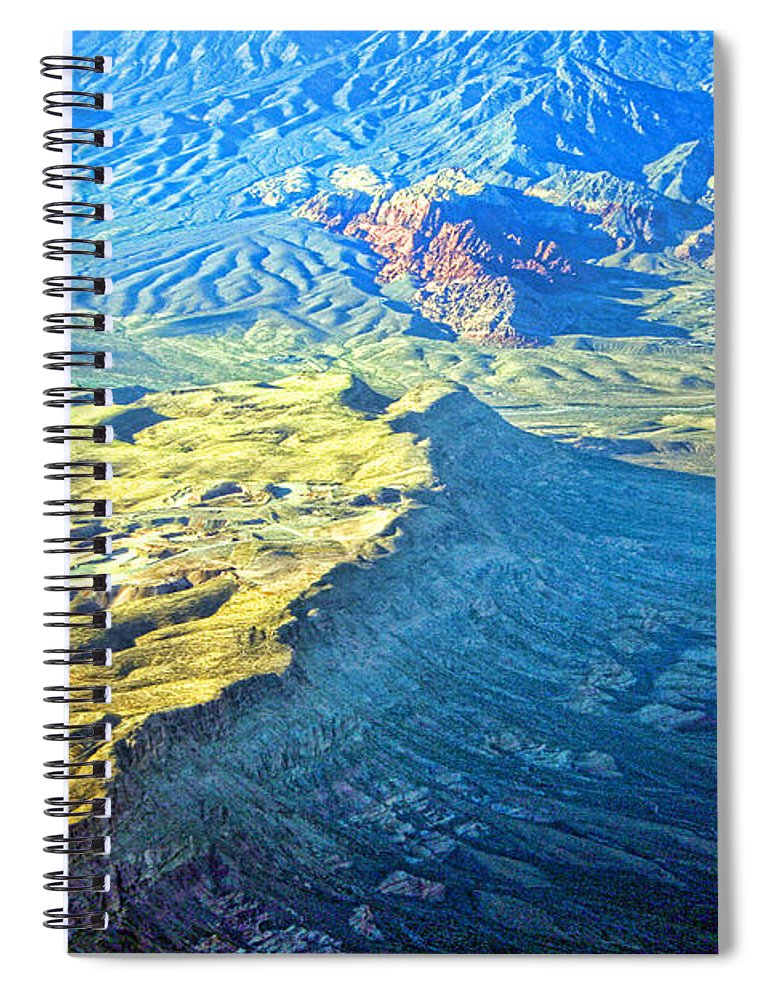 Red Rocks Spiral Notebook featuring the photograph West Of Las Vegas Planet Earth by James BO Insogna