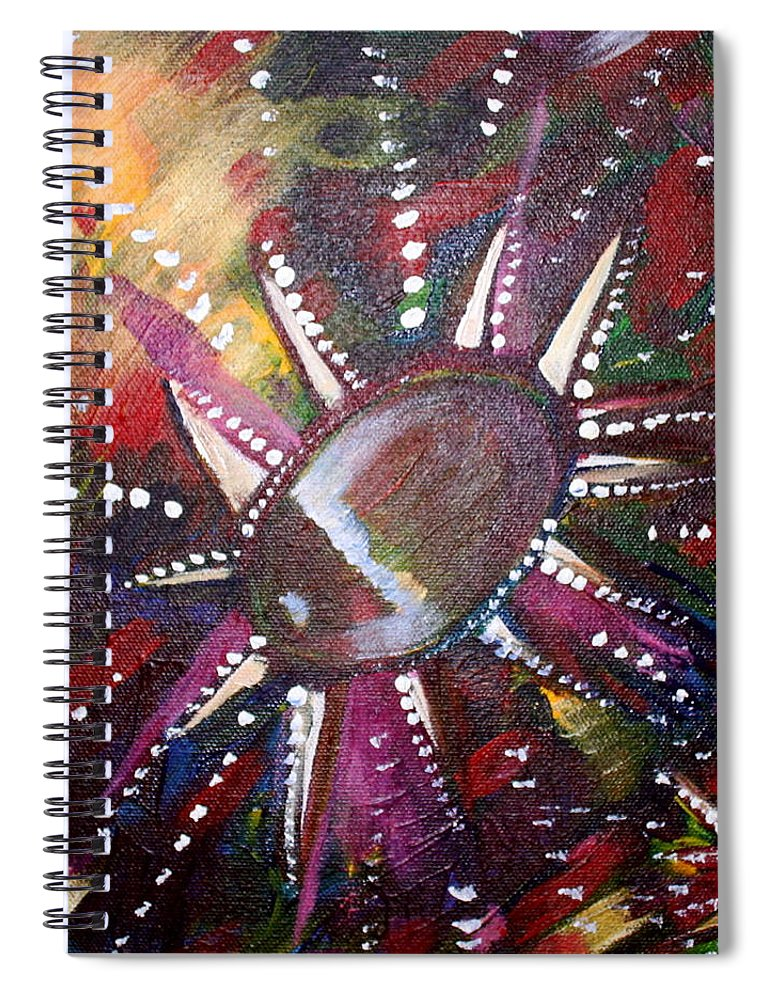 Spiral Notebook featuring the painting Wish by Kate Fortin