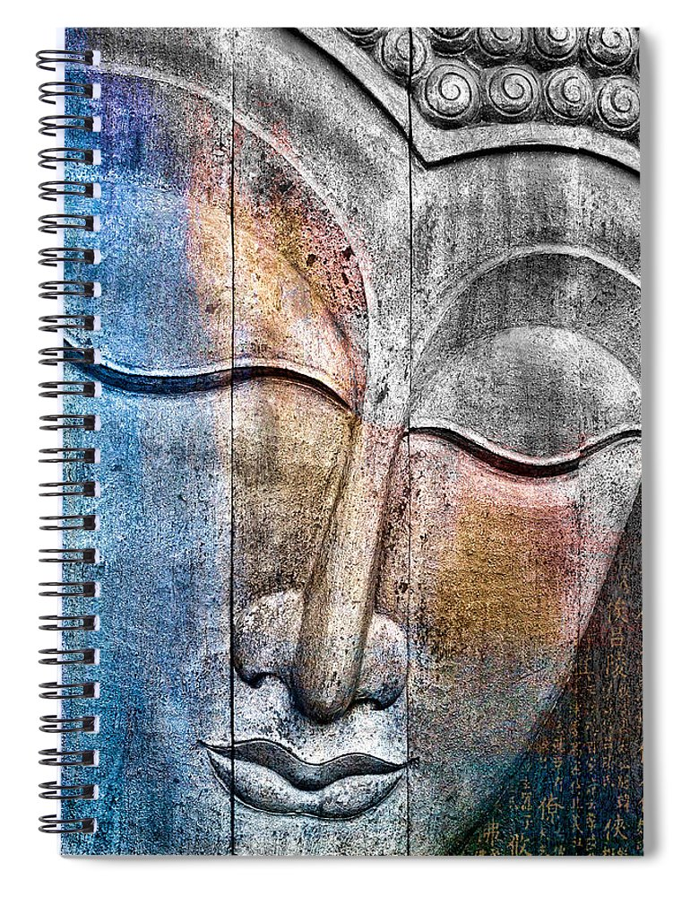 Buddha Spiral Notebook featuring the photograph Wooden Buddha by Carol Leigh