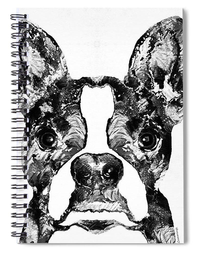 Boston Terrier Dog Black And White Art