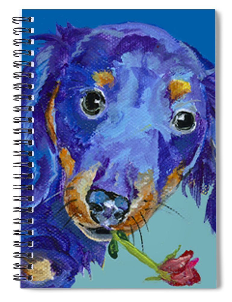 Mini Painting Spiral Notebook featuring the painting  Dach by Pat Saunders-White