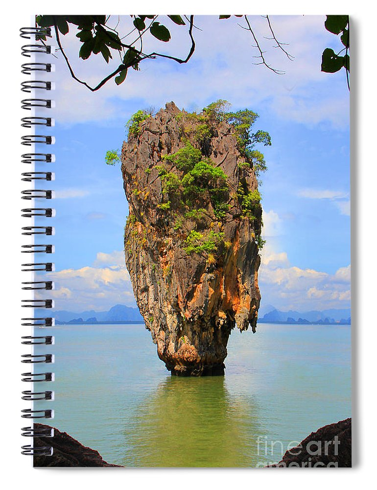 Phuket Spiral Notebook featuring the photograph 007 Island by Mark Ashkenazi