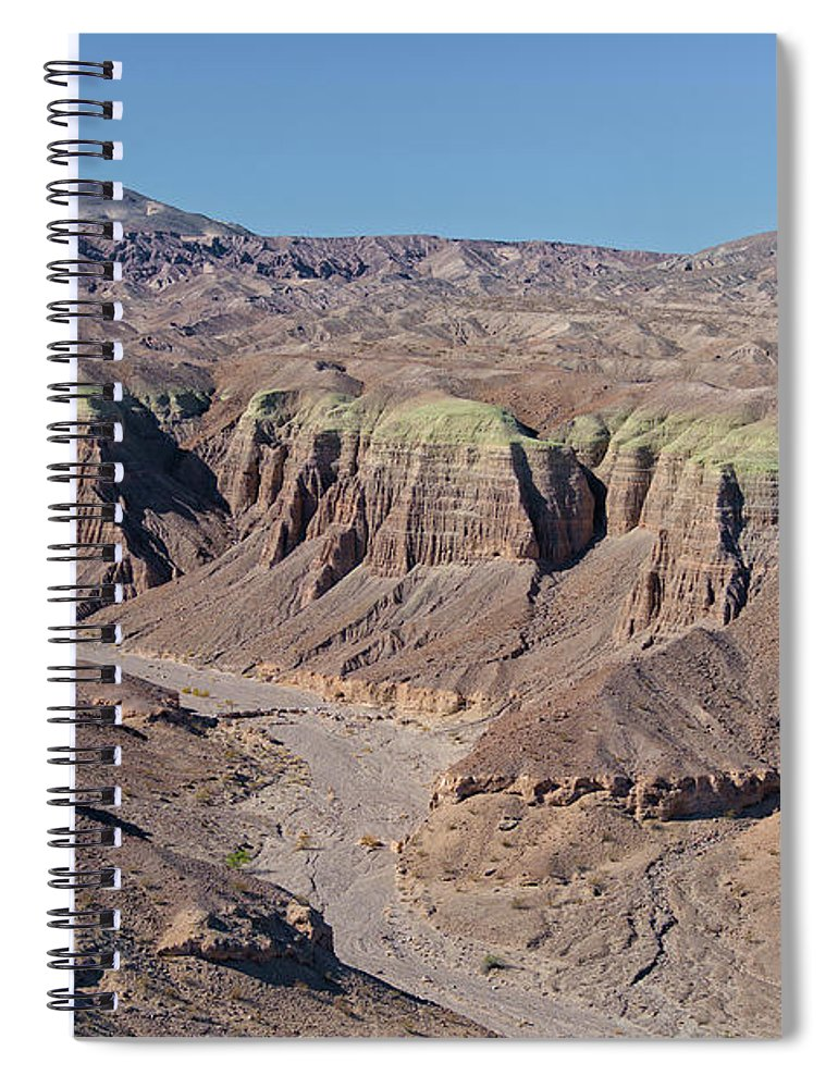 Aerial Shots Spiral Notebook featuring the photograph Afton Canyon by Jim Thompson