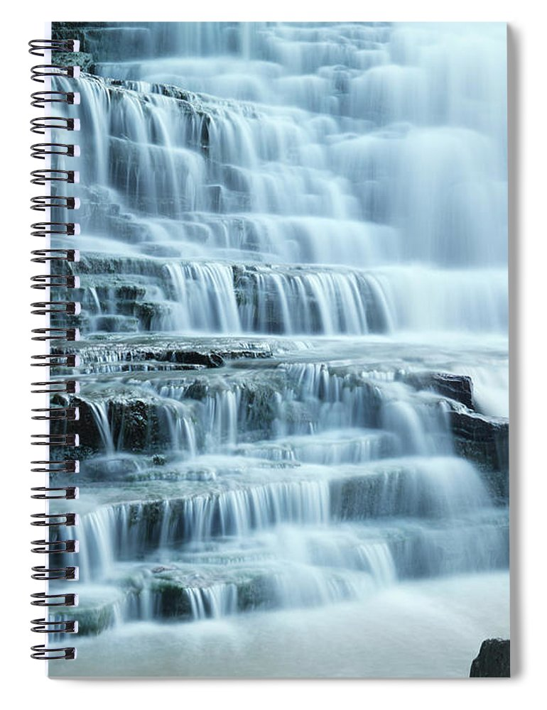 Waterfall Spiral Notebook featuring the photograph Albion Falls by Maxim Images Prints