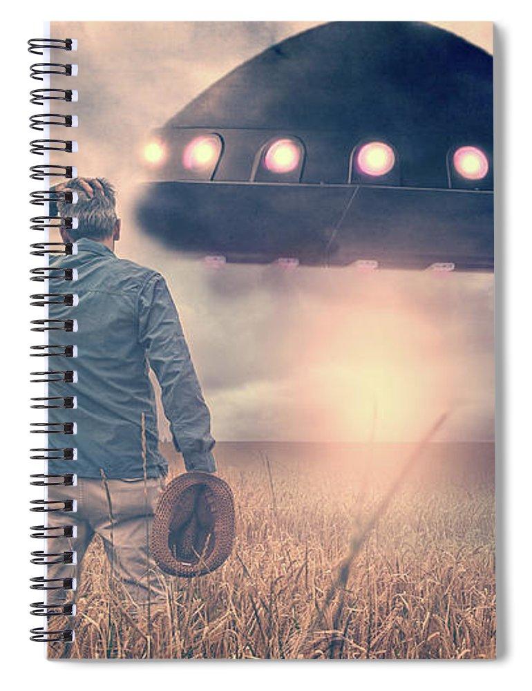 Alien Spiral Notebook featuring the photograph Alien Encounter by Edward Fielding