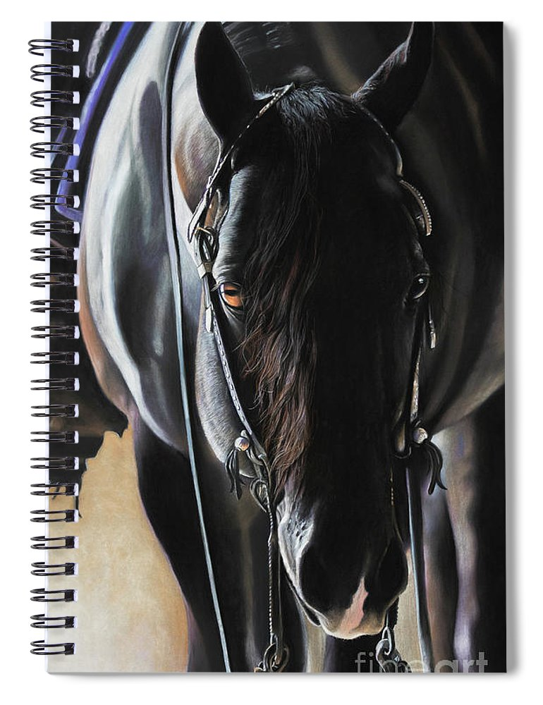 Aqha Spiral Notebook featuring the pastel Any Time...Any Place by Joni Beinborn