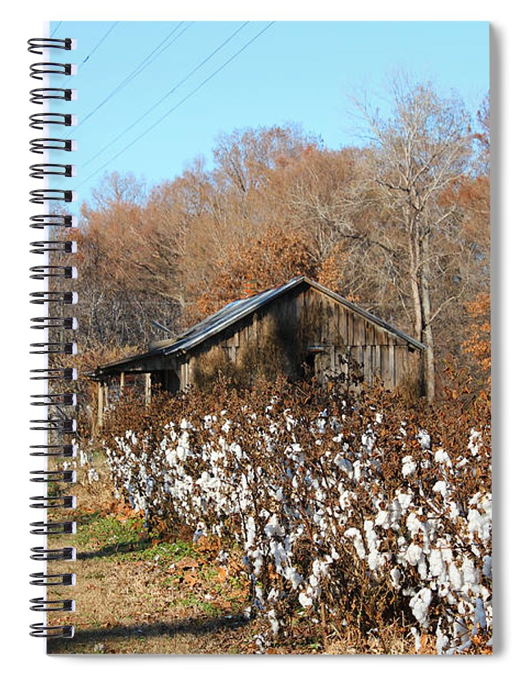 House Spiral Notebook featuring the photograph Back Roads Of Ms by Karen Wagner