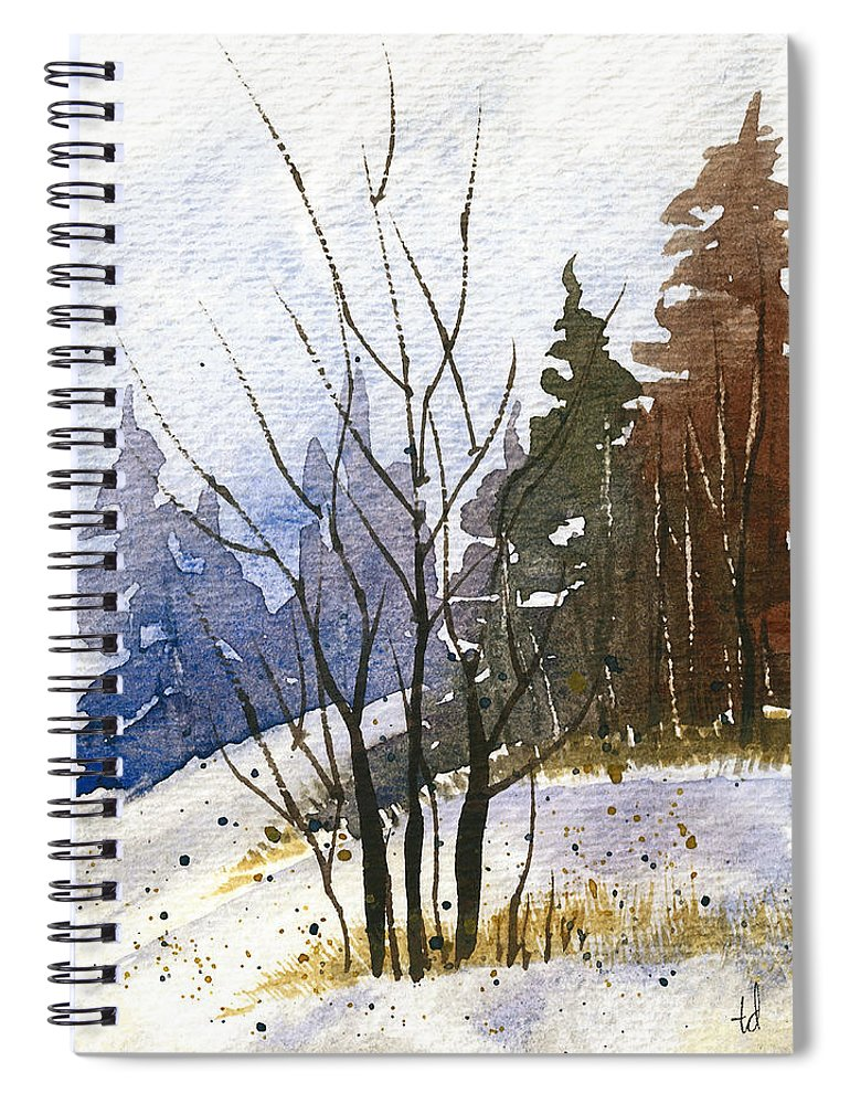 Snow Spiral Notebook featuring the painting Branches by Tonya Doughty