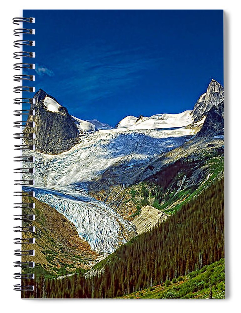 Mountains Spiral Notebook featuring the photograph Bugaboo Spires by Steve Harrington