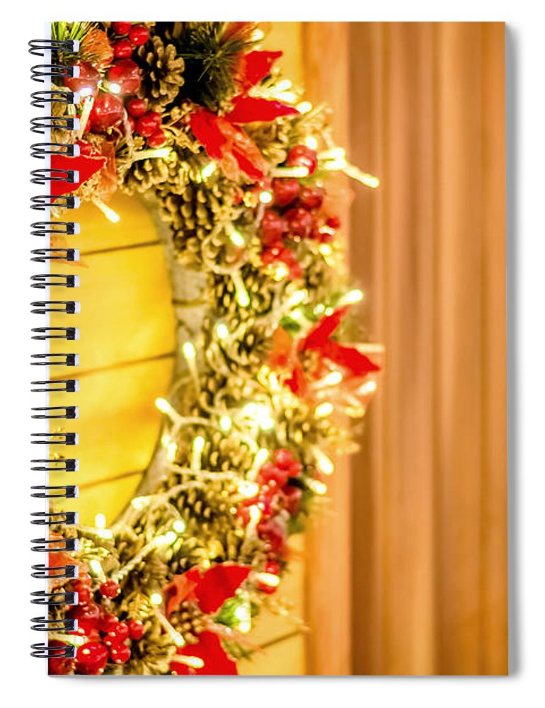 Christmas Spiral Notebook featuring the photograph Christmas Time 7 by Jijo George