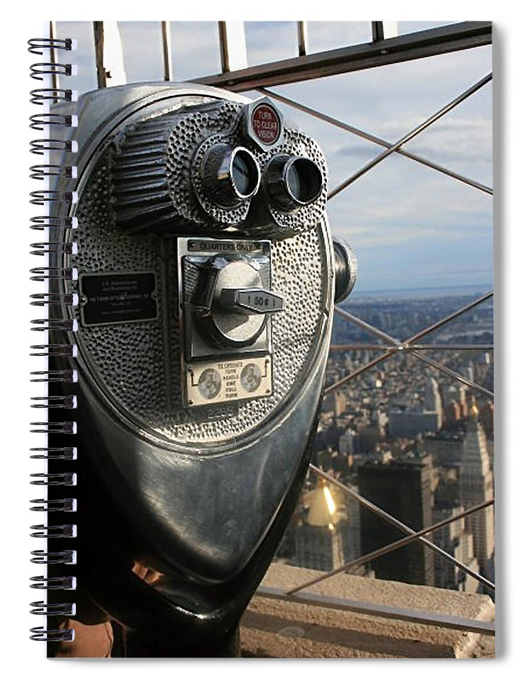 Coin Operated Viewer Spiral Notebook featuring the photograph Coin Operated Viewer by Debbie Cundy