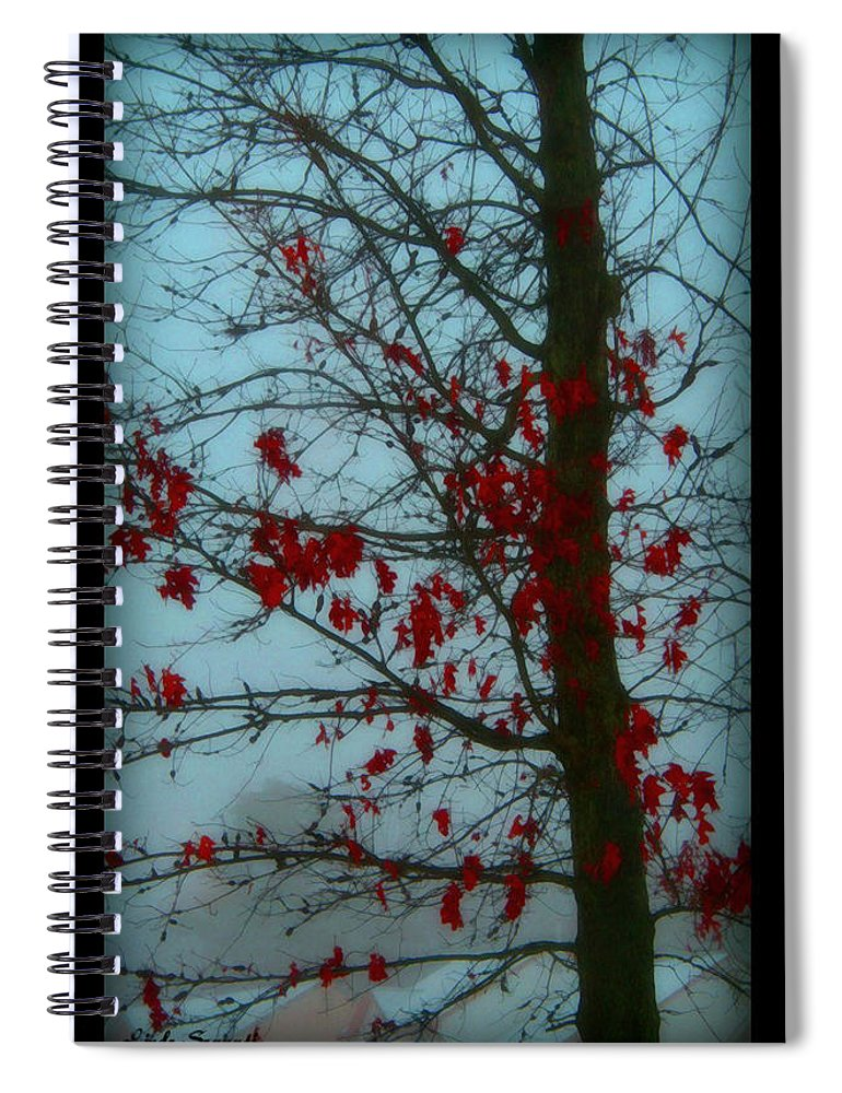 Tree Winter Nature Spiral Notebook featuring the photograph Cold Day In Winter by Linda Sannuti