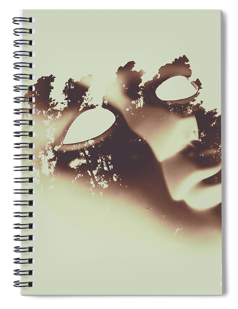 Manifest Spiral Notebook featuring the photograph Connection To All That Is by Jorgo Photography - Wall Art Gallery