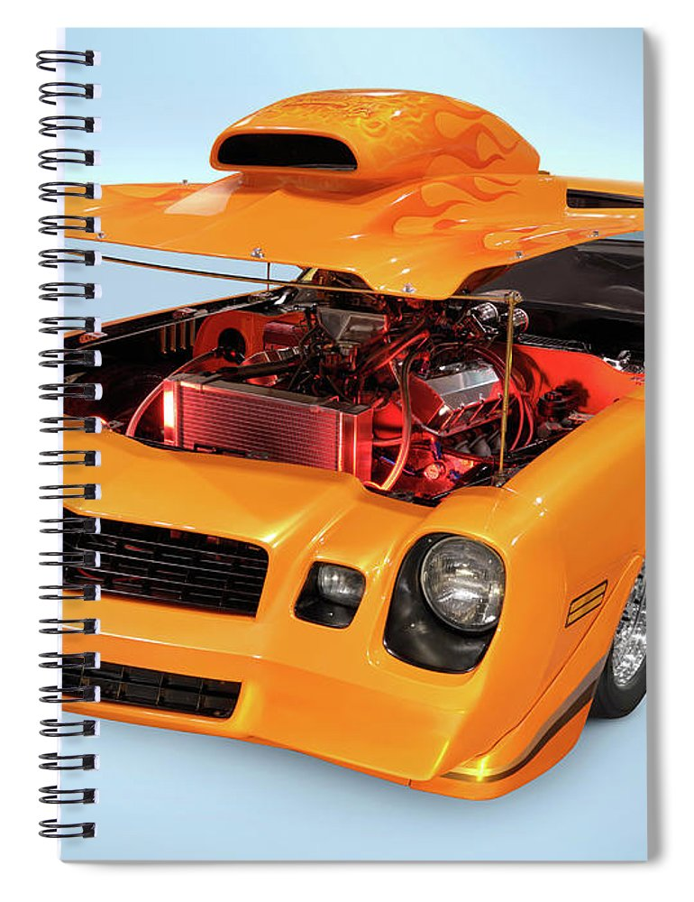 Car Spiral Notebook featuring the photograph Custom Muscle Car by Maxim Images Prints