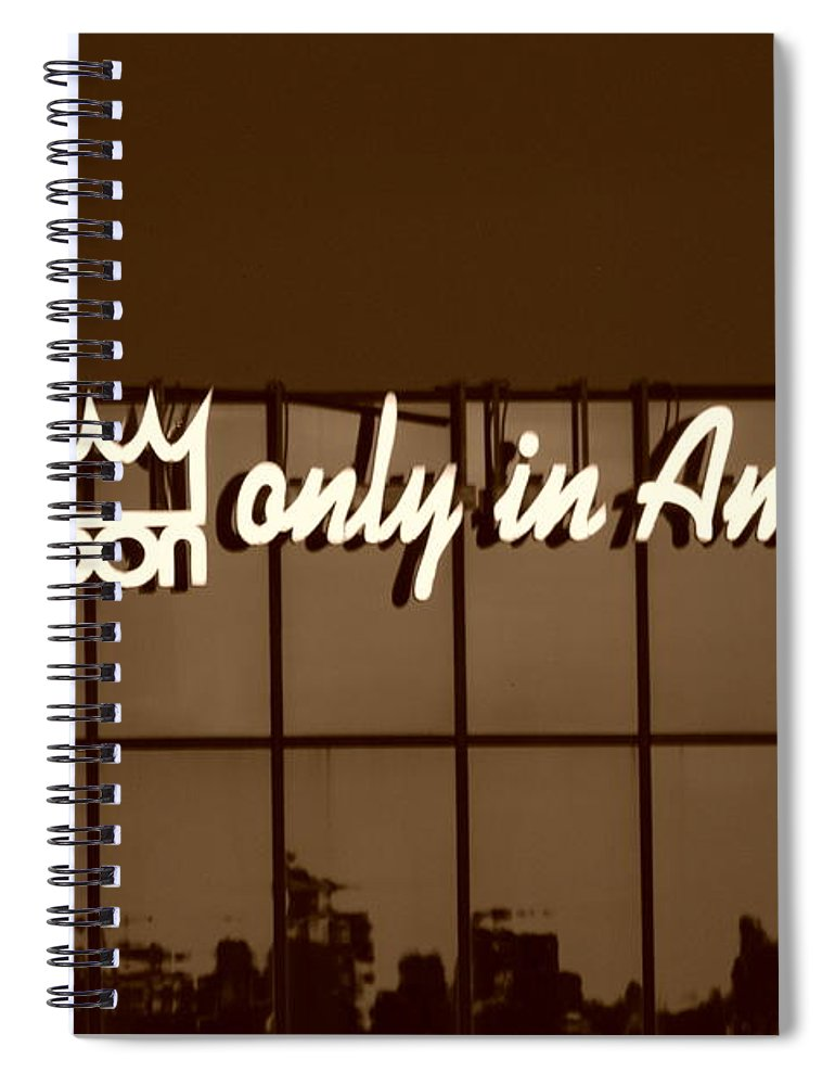 Sepia Spiral Notebook featuring the photograph Don King Only In America by Rob Hans