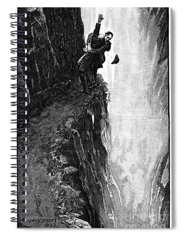 1893 Spiral Notebook featuring the photograph Doyle: Sherlock Holmes by Granger