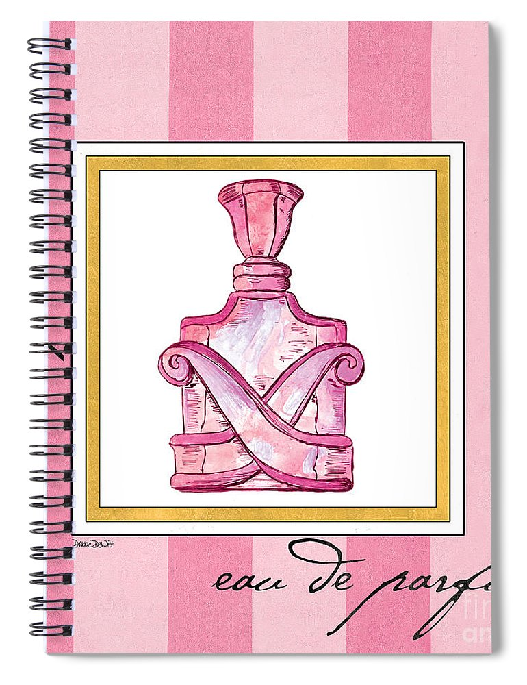 Perfume Spiral Notebook featuring the painting Eau De Parfum by Debbie DeWitt