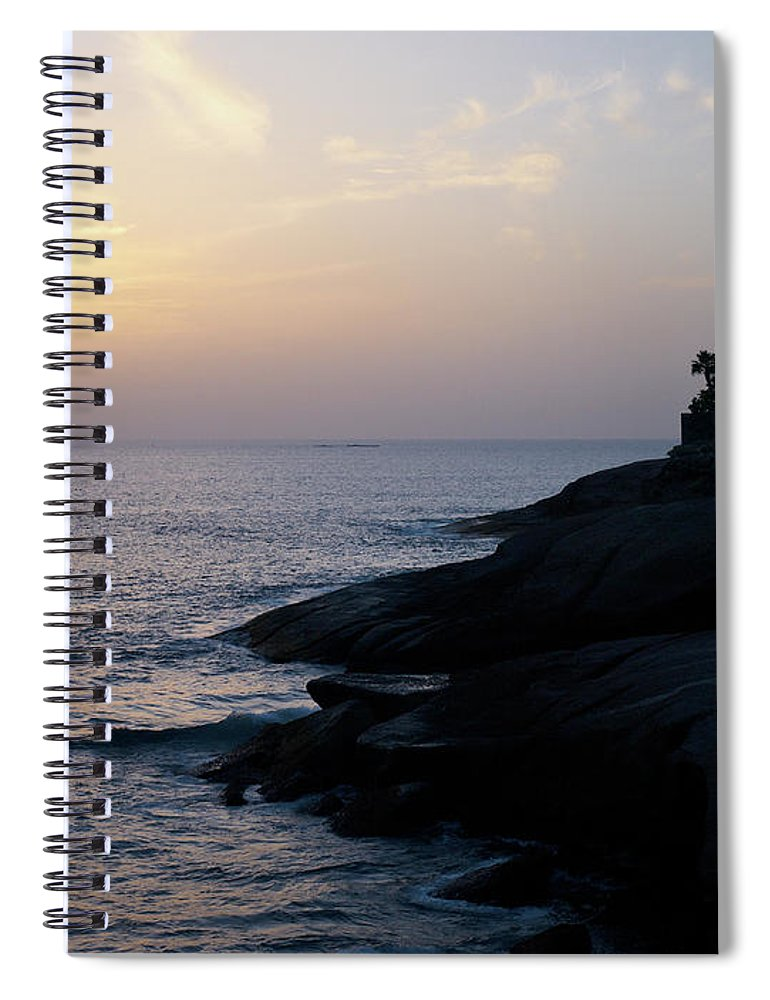Fanabe Spiral Notebook featuring the photograph Fanabe Evening 2 by Jouko Lehto