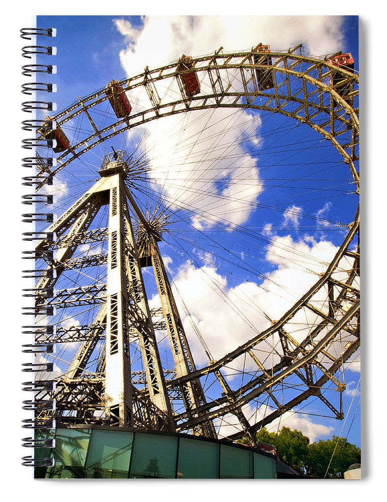 Ferris Wheel Spiral Notebook featuring the photograph Ferris Wheel At The Prater by Madeline Ellis