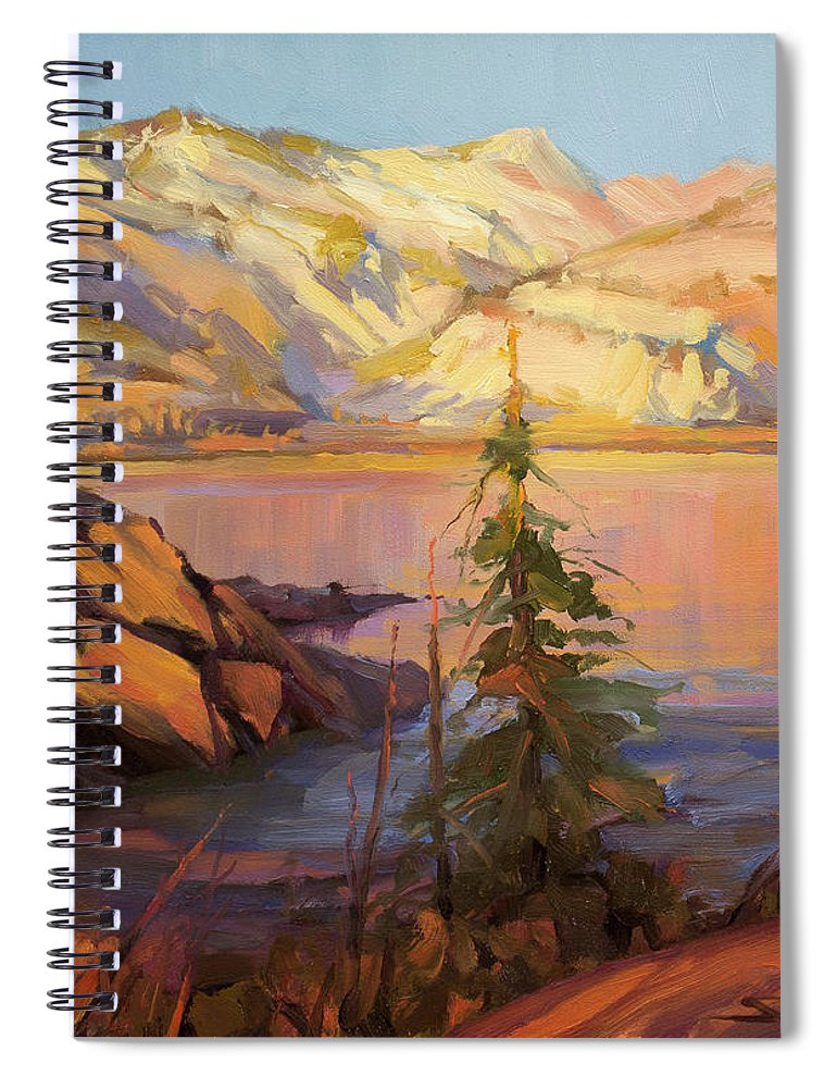 Wilderness Spiral Notebook featuring the painting First Light by Steve Henderson