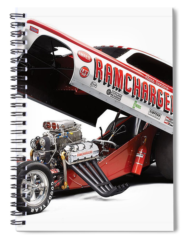 Funny Car Spiral Notebook featuring the photograph Funny Car 1 by Jackie Russo