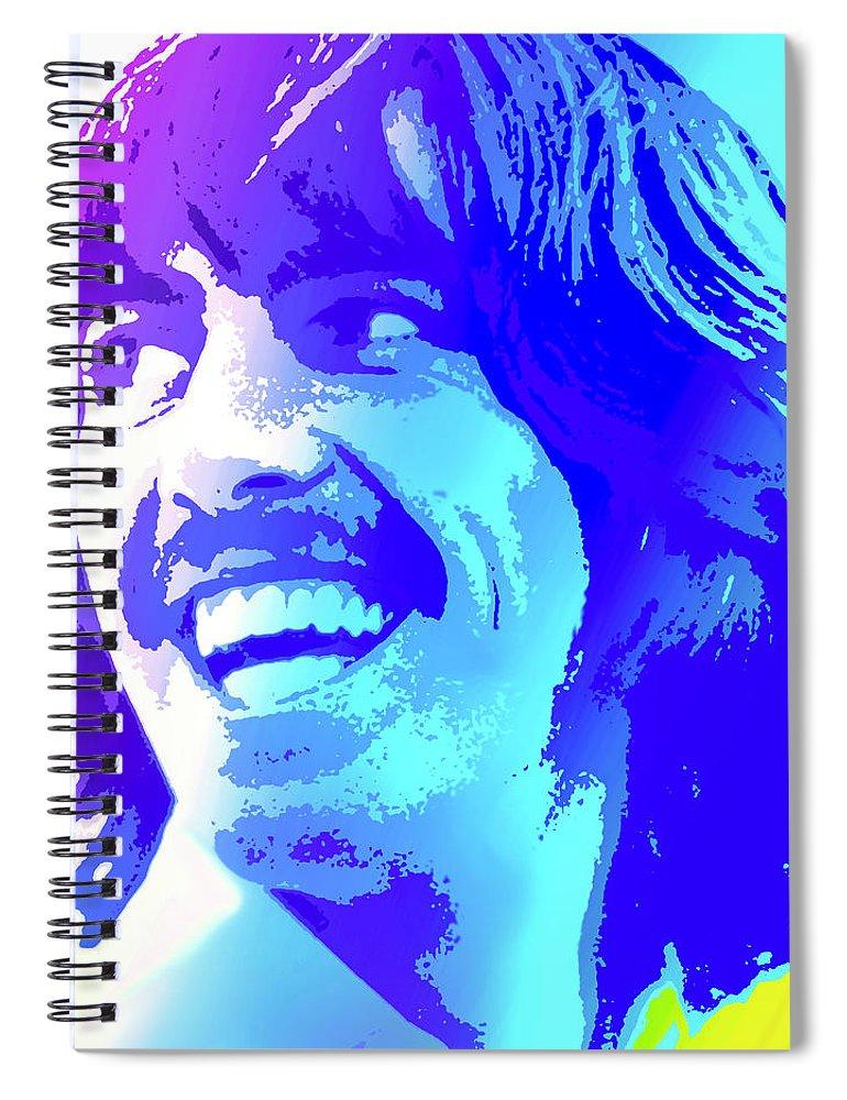 George Harrison Spiral Notebook featuring the digital art George Harrison by Greg Joens