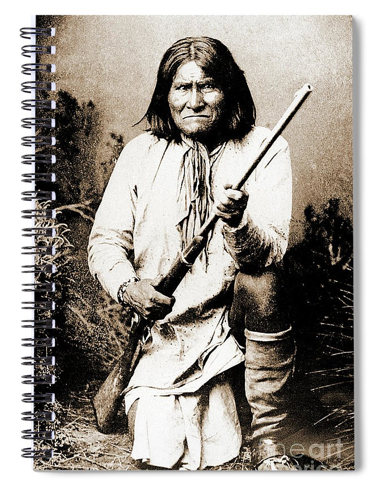 Native Spiral Notebook featuring the photograph Geronimo by Gary Wonning