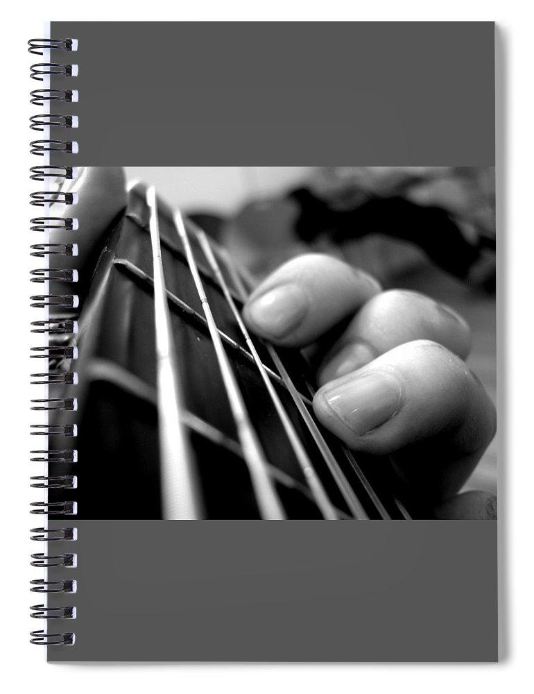Guitar Spiral Notebook featuring the digital art Guitar by Maye Loeser