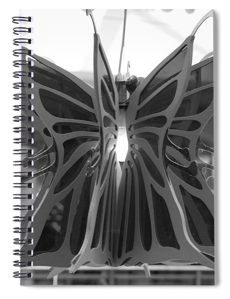 Black And White Spiral Notebook featuring the photograph Hanging Butterfly by Rob Hans