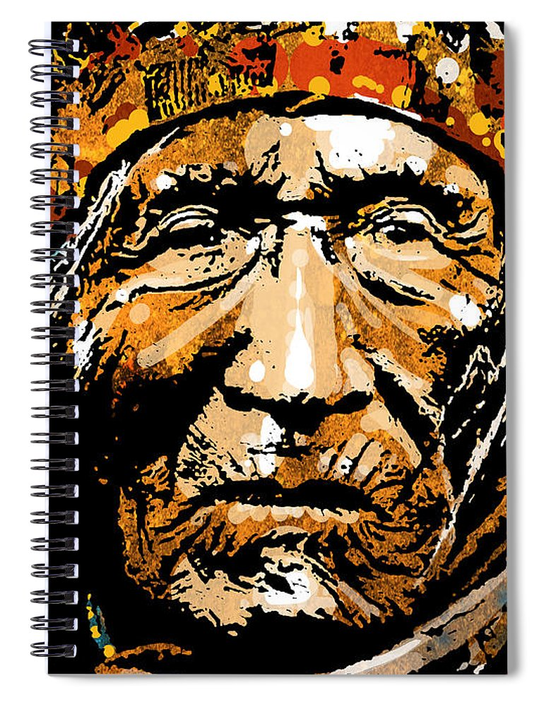 Native American Spiral Notebook featuring the painting He Dog by Paul Sachtleben