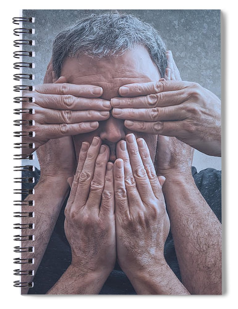 365 Project Spiral Notebook featuring the photograph Hear, See, Speak by Scott Norris