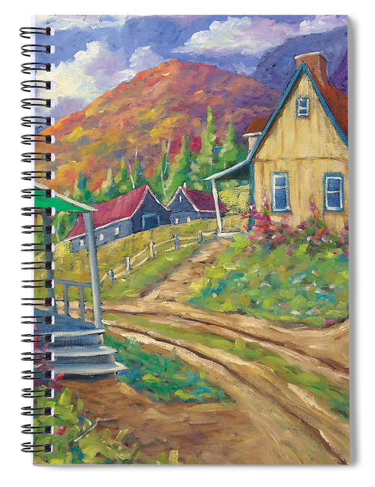 Art Spiral Notebook featuring the painting House Of Louis by Richard T Pranke