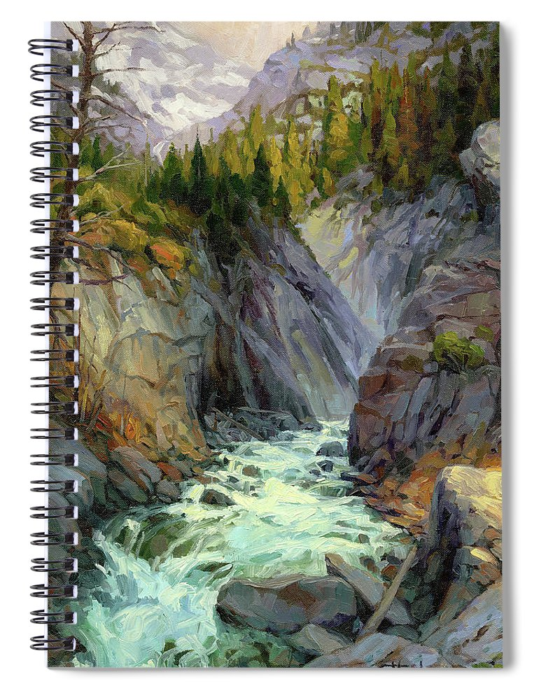 River Spiral Notebook featuring the painting Hurricane River by Steve Henderson