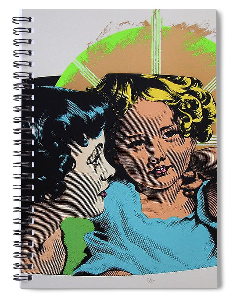 Madonna And Child Spiral Notebook featuring the mixed media Madonna De Milo by Charles Stuart