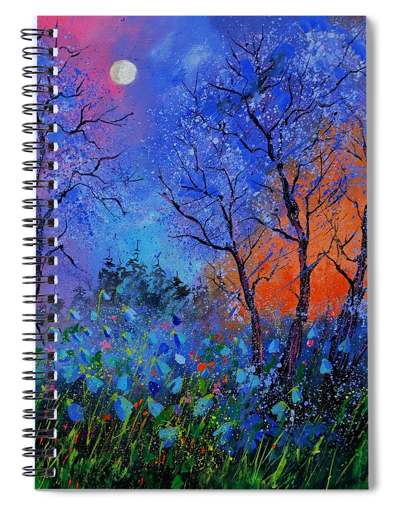 Landscape Spiral Notebook featuring the painting Magic wood by Pol Ledent