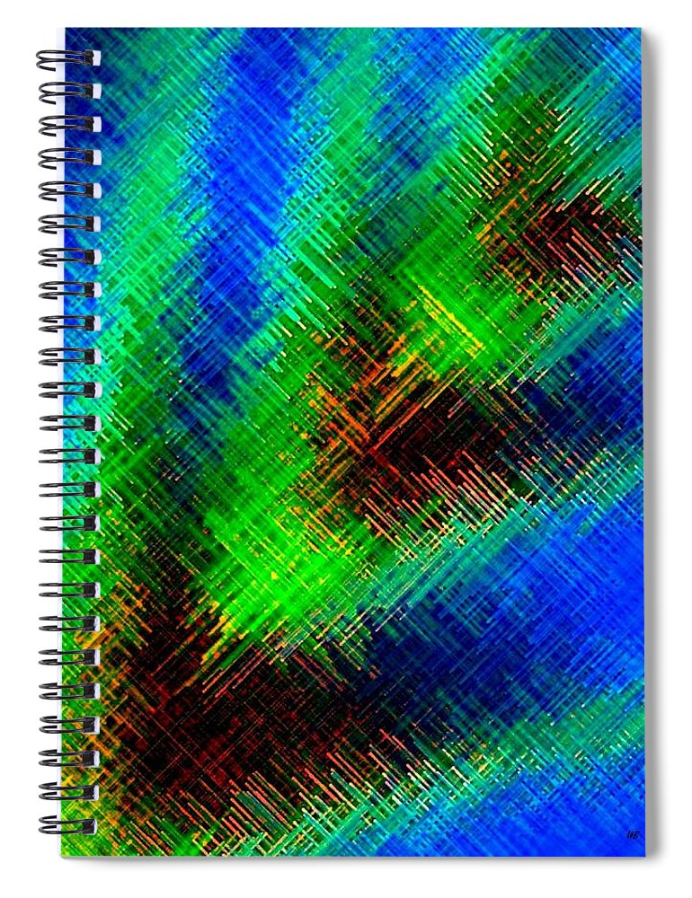 Micro Linear Spiral Notebook featuring the digital art Micro Linear 7 by Will Borden