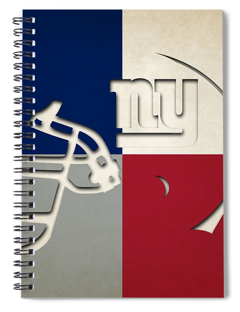Giants Spiral Notebook featuring the photograph New York Giants Helmet by Joe Hamilton