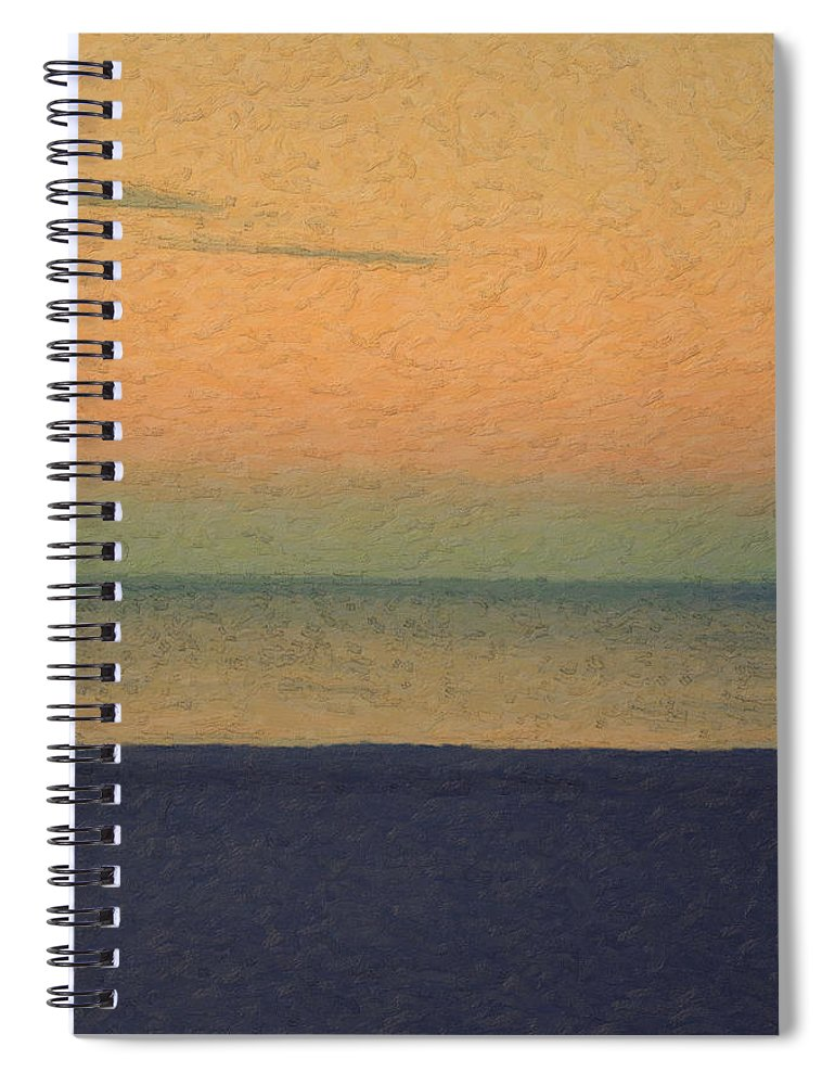 �not Quite Rothko� Collection By Serge Averbukh Spiral Notebook featuring the photograph Not quite Rothko - Breezy Twilight by Serge Averbukh