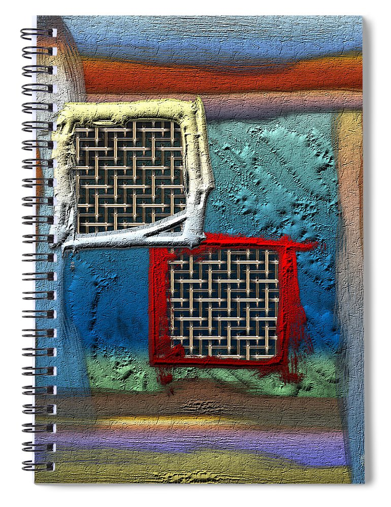 'abstracts Plus' Collection By Serge Averbukh Spiral Notebook featuring the photograph Obstructed Ocean View by Serge Averbukh