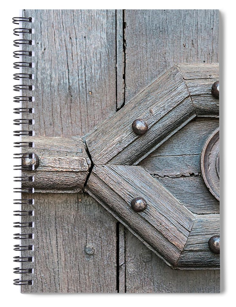 Door Spiral Notebook featuring the photograph Old Door Detail by Elena Elisseeva