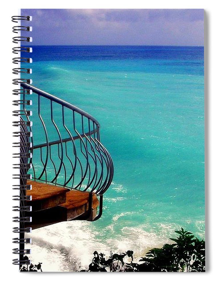 Seascapes Spiral Notebook featuring the photograph On The Edge by Karen Wiles